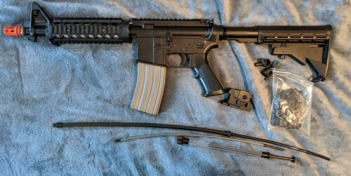 Airsoft Rifle Metal Green Gas w/ Extra Sights & Parts & Loaders