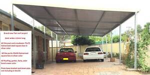 Factory Moving, Flat roof carport, 12M long x 6M wide Ingleburn Campbelltown Area Preview