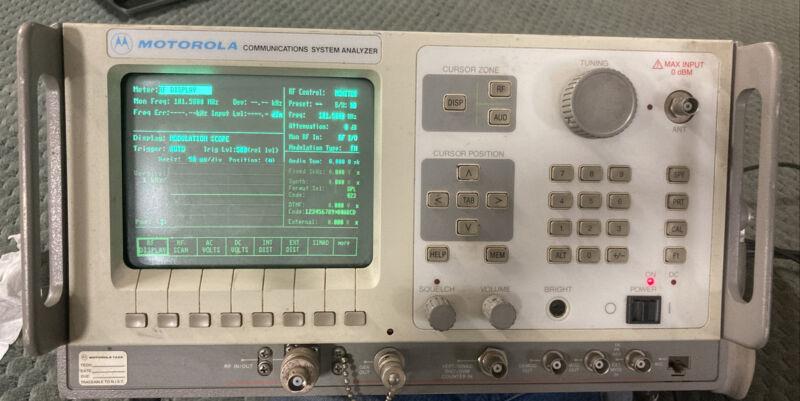 Motorola Communications System Analyzer R2600B/NT