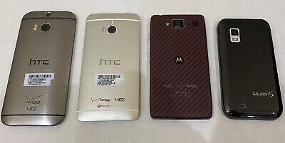 Lot of 4 Verizon Android Smartphones. HTC, Motorola, Samsung.  See Description.