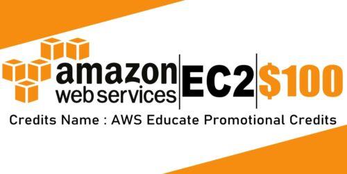 $100 AWS Amazon Web Services Credit Code Lightsail EC2 AWS Educate Credits