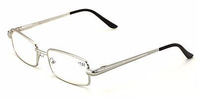 Men Metal Rectangle Computer Reading Glasses - Reduce fatigue, strain, & dry (Eye Strain Reducing Glasses)