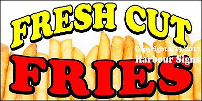 Choose Your Size Fresh Cut Fries Decal Concession Food Truck Vinyl Sticker