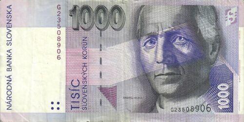 Slovakia 1000 Korun 1993 Circulated Banknote Good Condition