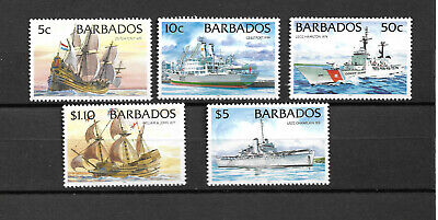 BARBADOS 1996, SERIE IVERT 936/40 BARCOS. MNH.