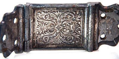 Vintage Antique Icebox metal Ornate 1800's Swing Hinge