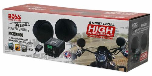 Boss Audio 600w Speakers+Amplifier+Remote Handlebar System 4 Motorcycle/ATV/UTV