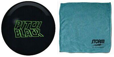 15lb Storm Pitch Black Solid Urethane Bowling Ball & Storm MicroFiber (Storm Pitch Black)