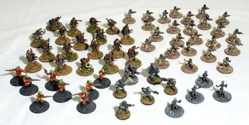 15mm Science Fiction Miniatures PAINTED Infantry Aliens Mounted 61 Minis
