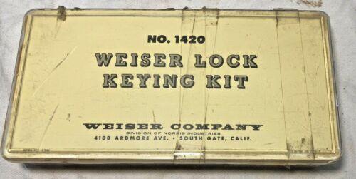 Vintage Weiser Lock Rekeying Kit No.1420 Pins Locksmith Repair Door Pad Locks