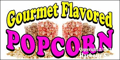 Choose Your Size Gourmet Flavored Popcorn Decal Concession Food Truck Sticker