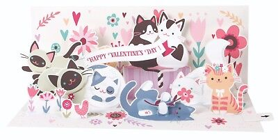 alentine's Day Card for Kids   Cats Keepsake PopUp 4