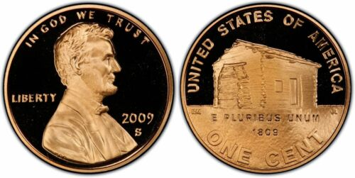 2009-S Proof Lincoln Cent Log Cabin Birthplace Nice Coins Priced Right FREE S&H