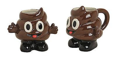 feebecher Tasse Becher Poo Emoticon Keramik Emotion braun (Kaffee-tasse Emoji)