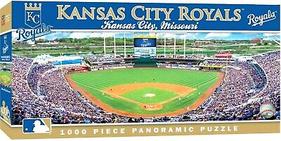 Kansas City Royals Kauffman Stadium (KANSAS CITY ROYALS STADIUM PANORAMIC JIGSAW PUZZLE NHL 1000 PC KAUFFMAN STADIUM)