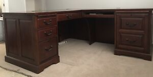 Solid Wood Executive L Shape Office Desk