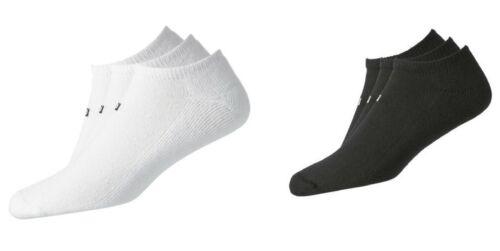 (6) SIX PAIR FootJoy Mens ComfortSof LOW CUT Golf Socks, WHITE/BLACK, Size 7-12