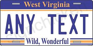 WEST-VIRGINIA-LICENSE-PLATE-customized-with-your-text-license-plates-state