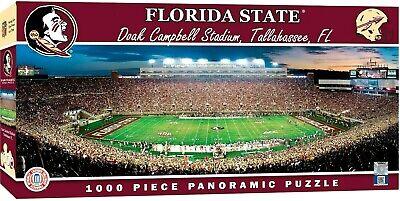FLORIDA STATE SEMINOLES STADIUM PANORAMIC JIGSAW PUZZLE 1000 PC DOAK CAMPBELL - Florida State Doak Campbell Stadium
