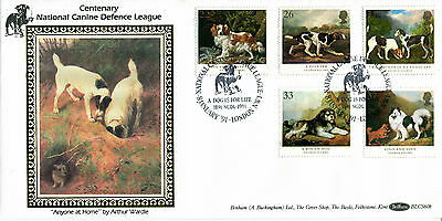 8 JANUARY 1991 DOGS BENHAM BLCS 60b FIRST DAY COVER A DOG IS FOR LIFE SHS (a)