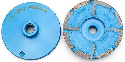 4 Resin Metal Diamond Grinding Cup Wheel Medium Grit Granite Concrete Stone