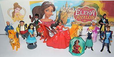 Disney Elena Of Avalor Figure Set Of 14 Toy Kit W  Figures  Tattoo  Ring