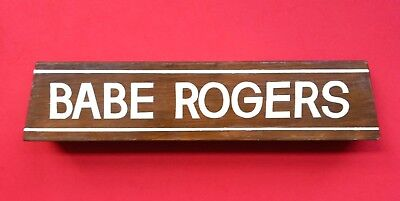 Vintage 1940's 50's Desk Counter Display Name Tag Plate Handmade & Lettered