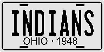 Cleveland Indians Baseball World Series Champions 1948 Ohio License plate