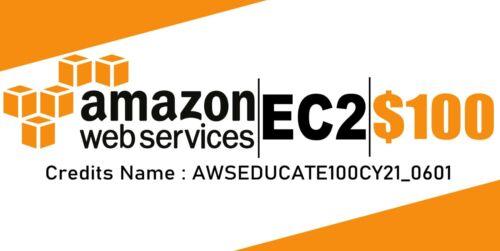 $100 AWS Amazon Web Services Credit Code Lightsail EC2 AWSEDUCATE100CY21_0601