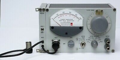 Gr General Radio 1232a Tuned Amplifier Null Detector 1232-a With 1232-p2 Preamp