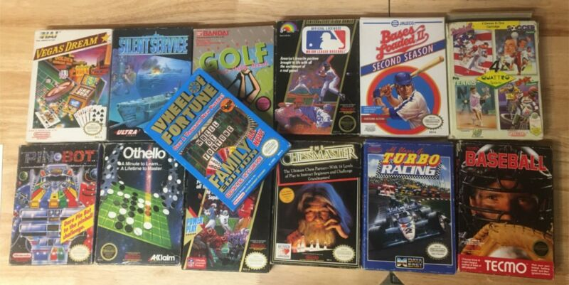 Lot of 13 Nintendo NES Games Complete In Box