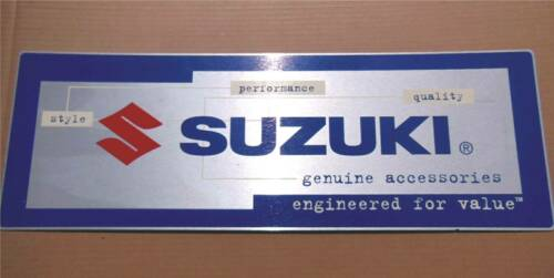 "Vintage SUZUKI Aluminum Motorcycle Dealer Sign 26"" x 9"" Nice"