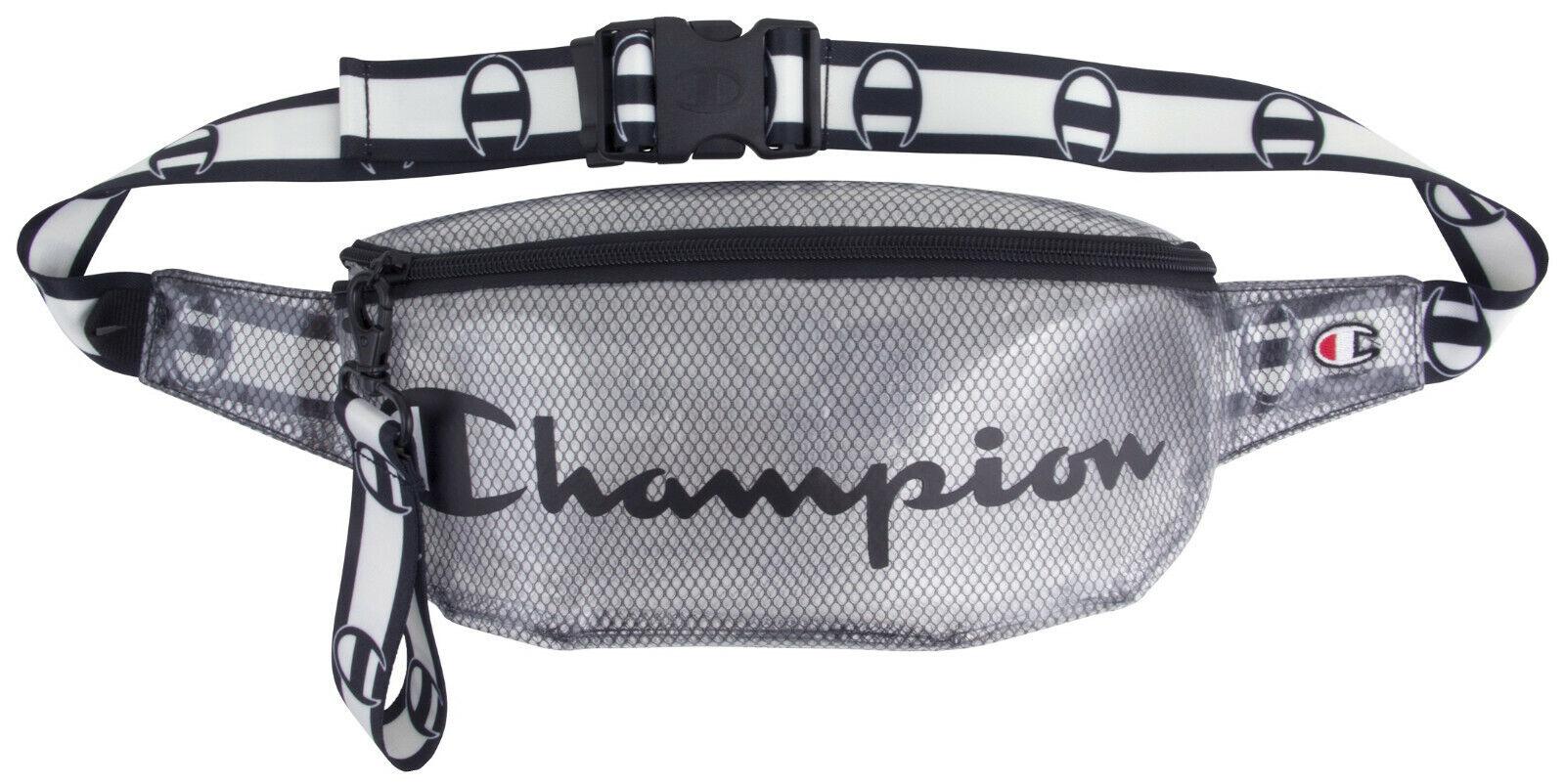 cc2c60488252 Details about Champion Prime Transparent Sling Waist Pack One Size Black-  CH1156