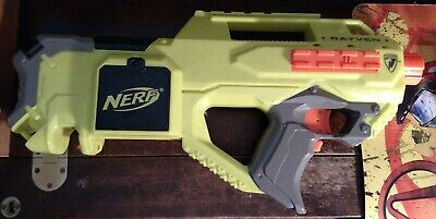 Nerf Green Rayven Raven Gun Only Motorized CS-18 - tested and works 2011 no clip