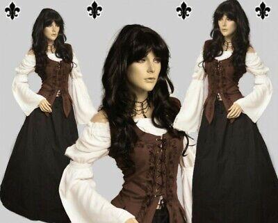 Gothic Mittelalter LARP Gewandung Set Rock Mieder Bluse Kleid Schankmaid I Rock Kleid Set