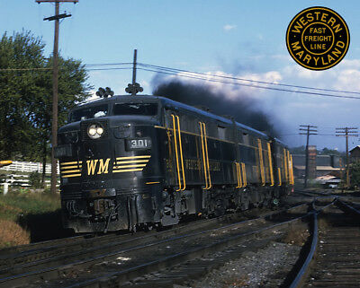 Western Maryland Alco FA-2 Train Metal Sign