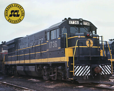 Seaboard Coast Line U33B Train Metal Sign