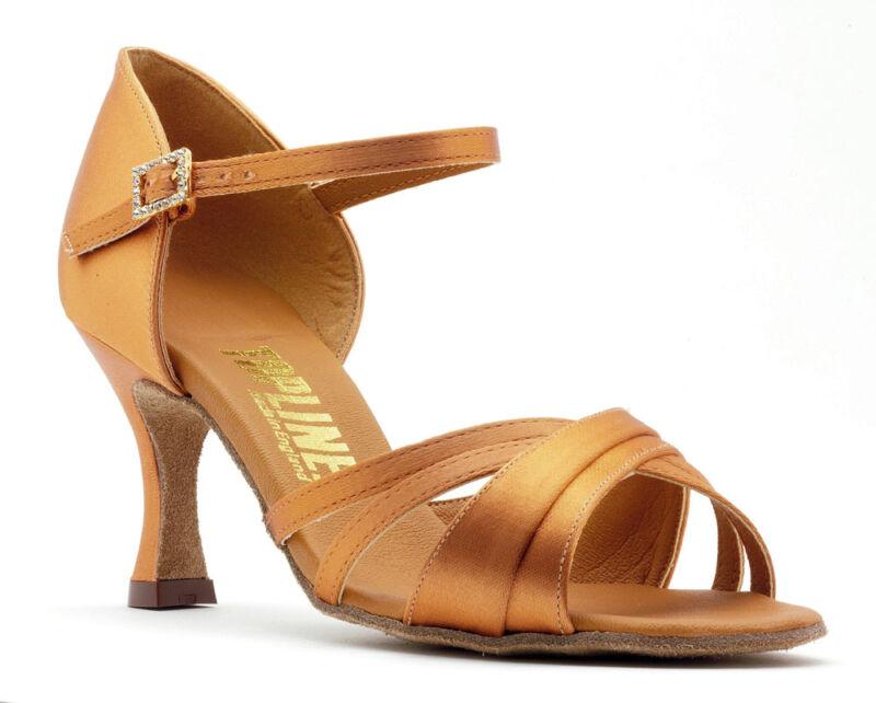 Ladies Tan Or Black Latin Ballroom Dance Shoes By Topline Katz Style CHELSEA