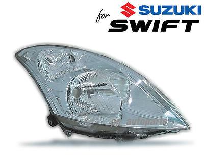 LH LEFT HEAD LIGHT WHITE CLEAR CRYSTAL LEN FOR SUZUKI SWIFT HATCHBACK 2010-2015