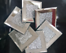 MODERN CRYSTAL AND MIRROR COASTER SET OF 4