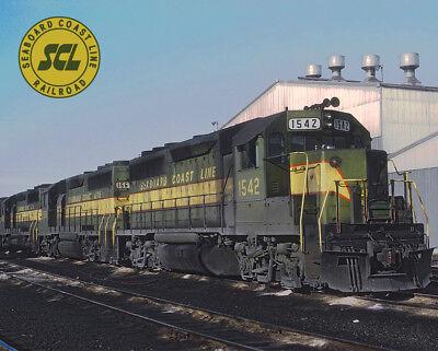 Seaboard Coast Line GP40s Train Metal Sign