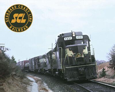 Seaboard Coast Line GP30 Train Metal Sign