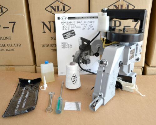 New NP-7A Newlong Industrial Japan Portable Bag Closer  3 EXTRA THREAD CONES