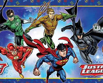 Justice League Party Supplies Table Cover