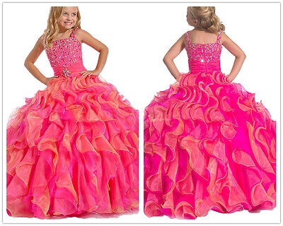 Puffy Skirts For Kids (Flower Girls Dress Puffy Ball Gown For Formal Pageant Party Birthday Prom)