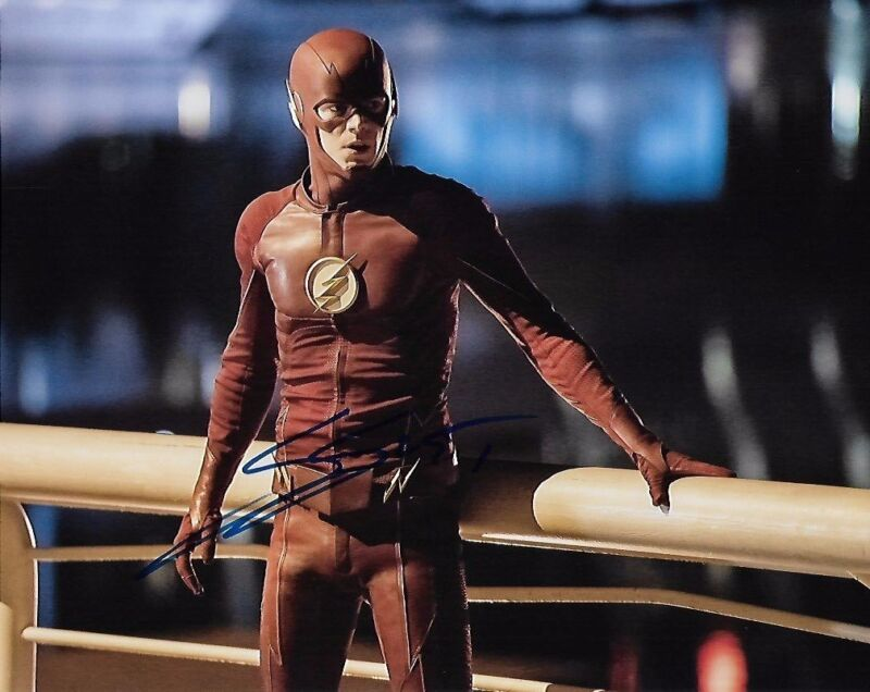 Grant Gustin The Flash Autographed Signed 8x10 Photo COA w/proof