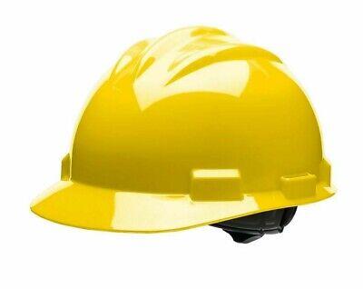 New Bullard Yellow Standard Hard Hat Bump Cap Safety S61 4pt Ratchet Suspension
