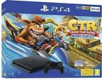Playstation 4 Slim (Black) 500GB + Crash Team Racing Nitr...