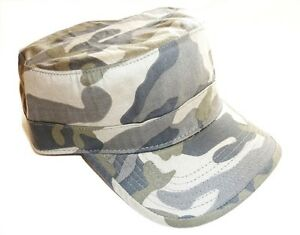 MILITARY-DRILL-CAP-vintage-70s-US-forces-army-hat-pre-washed-cotton-urban-camo