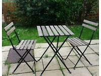 Handy small outdoor table and chairs